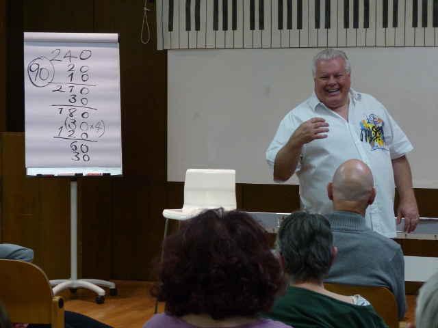 Duncan Lorien im Gesangsseminar