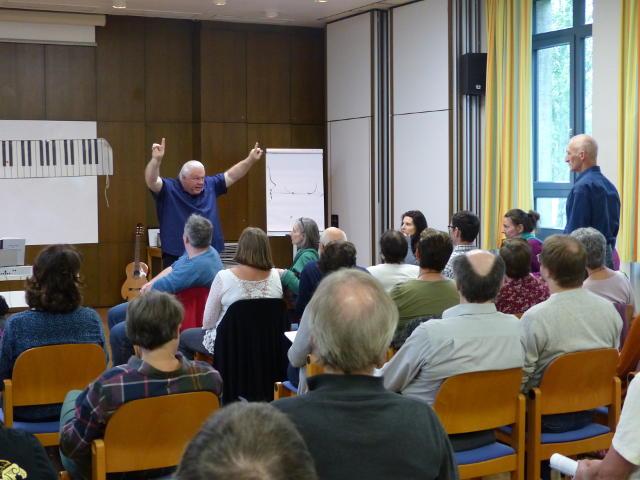 Duncan Lorien erklärt die Atmung und die Funktion der Stimmlippen